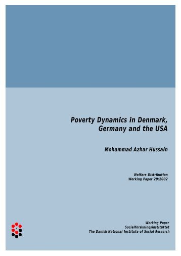 Poverty Dynamics in Denmark, Germany and the USA - SFI