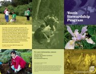 Youth Stewardship Program - SF Recreation and Parks