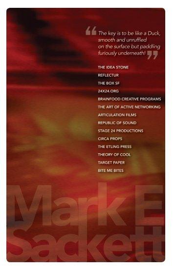 Download my Bio - Mark E. Sackett