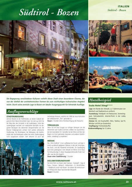 Südtirol - Bozen - Rail Tours Austria