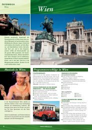 Programmvorschläge in Wien Musicals in Wien: - Rail Tours Austria