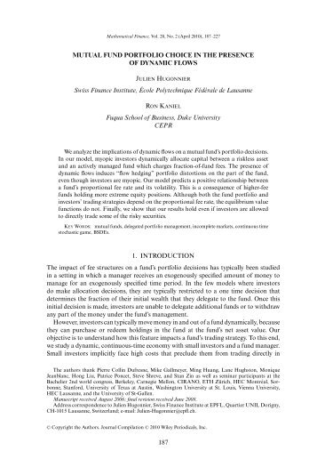 the intuition behind black litterman model portfolios The black-litterman (bl) model is a widely used asset allocation model in the nancial industry computational expe-rience has shown that the portfolios constructed by this method are more stable and better diversied than those constructed from the conventional mean-variance approach.