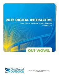 InTeRAcTIve neTWORk - Clear Channel Outdoor