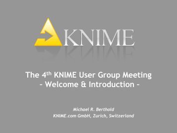 Data Mining Workbench for Interactive Data Exploration - Knime