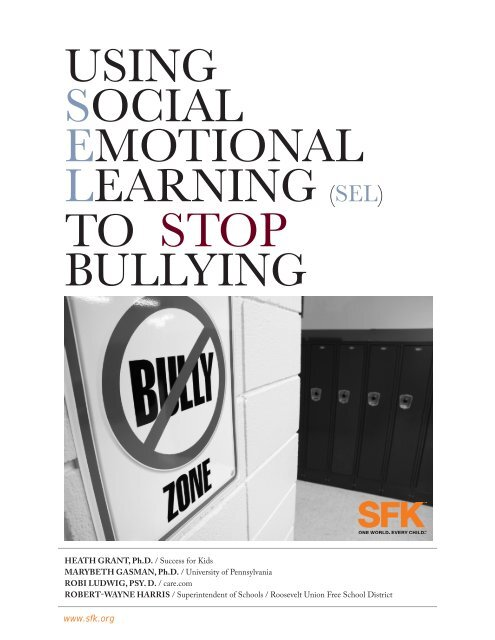 using social emotional learning (sel) to stop bullying - SFK