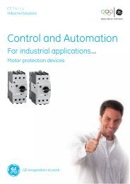 Motor protection devices - GE Industrial Systems