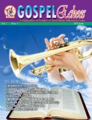 Vol. 1 Issue 2 (June 2010) - Kerala Church of God Cyber Community