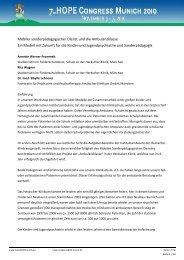 Mobiler sonderpädagogischer Dienst und die Ambulanzklasse Ein ...