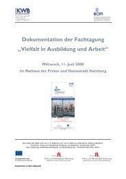 """Dokumentation der Fachtagung """"Vielfalt in Ausbildung und ... - BQM"""