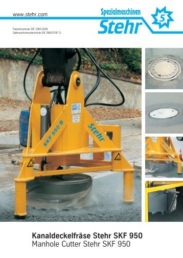 Kanaldeckelfräse Stehr SKF 950 Manhole Cutter Stehr SKF 950