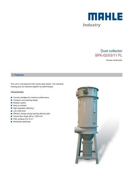 Dust collector SFK-02/03/11 FL - mahle.com