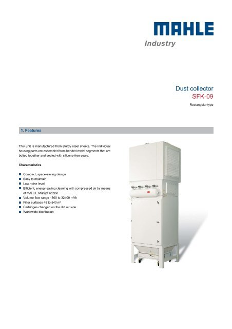 Dust collector SFK-09 - mahle.com