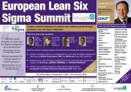 IQPC European Lean Six Sigma Summit - ISSSP