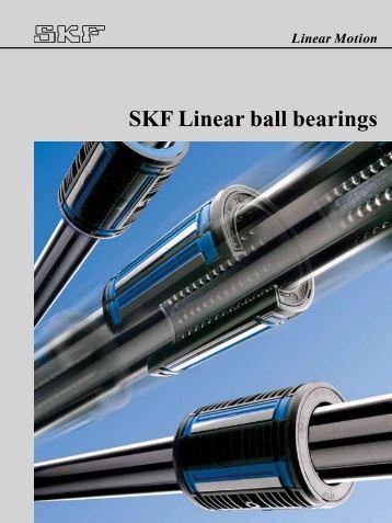 SKF Linear ball bearings