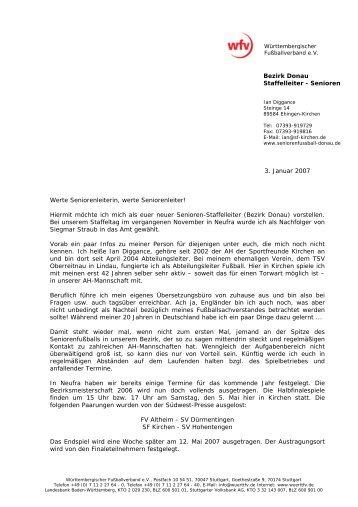 Vorstellungsbrief - Seniorenfußball (AH Ü30) im Bezirk Donau