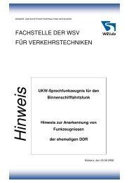 Hinweis zur Anerkennung von Funkzeugnissen der ehemaligen DDR