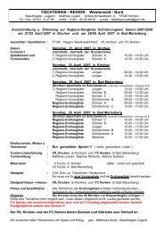 TISCHTENNIS - REGION Westerwald - Nord - VfL Kirchen