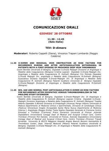 comunicazioni orali - NL Congressi