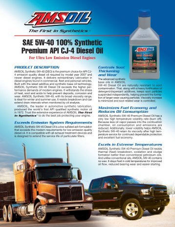 View AMSOIL 5W-40 Synthetic Premium Diesel Oil
