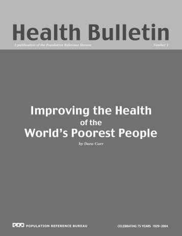 Health Bulletin Text NEW - Population Reference Bureau