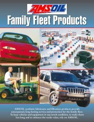 AMSOIL synthetic lubricants and filtration products ... - Kozmik World