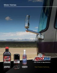 G496 - AMSOIL Products for Motor Homes ... - OilTek Solutions