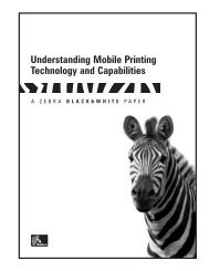Zebra White Paper - Understanding Mobile Printing Technology and