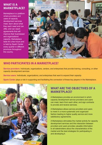 Marketplace - Spark Center for Social Entrepreneurship Development