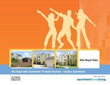 Alta Royal Oaks Apartments Printable Brochure - Apartments For Rent