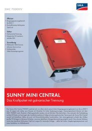 Datenblatt Sunny Mini Central 7000HV - Helion Solar