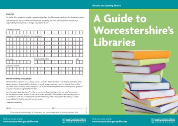 joining form - Worcestershire County Council