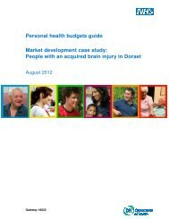 People with an acquired brain injury in Dorset - Personal health ...