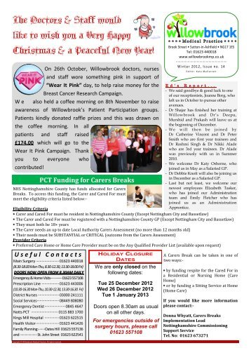 Newsletter - Willowbrook Medical Practice