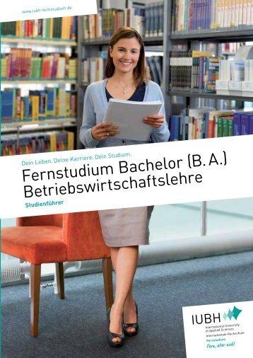 Fernstudium Bachelor (B. A.) Betriebswirtschaftslehre - IUBH