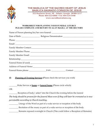 Printables Funeral Planning Worksheet funeral planning worksheet vintagegrn