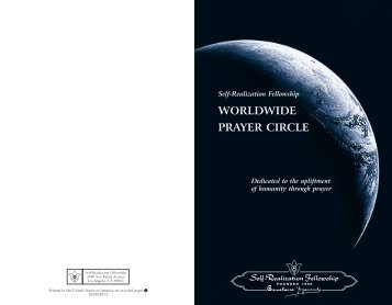 Worldwide Prayer Circle Booklet - San Francisco Meditation Group