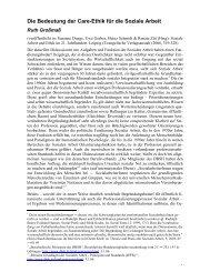 Die Bedeutung der Care-Ethik für - Alice Salomon Hochschule Berlin