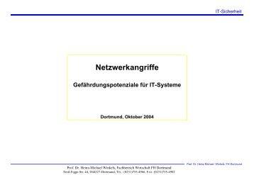 Netzwerkangriffe - Prof. Dr. Heinz-Michael Winkels