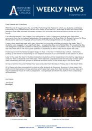 WEEKLY NEWS - Aranmore Catholic College