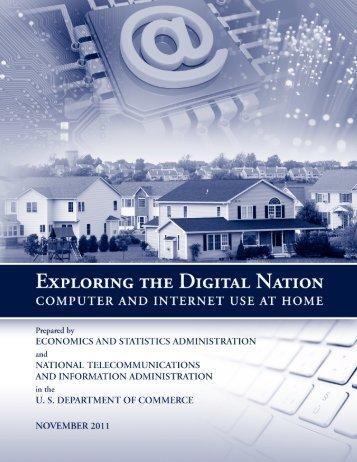 Exploring the Digital Nation - Economics and Statistics ...