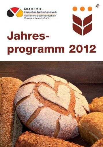 Jahres- programm 2012 - Landesinnungsverband Saxonia des ...
