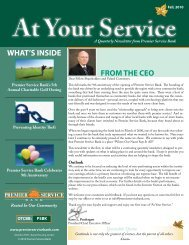 Fall 2010 Newsletter - Premier Service Bank