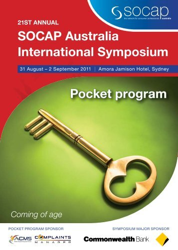 sOCAP Australia International symposium Pocket program
