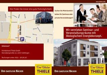 Flyer (pdf-Datei) hier zum Download - Der Bäcker Thiele