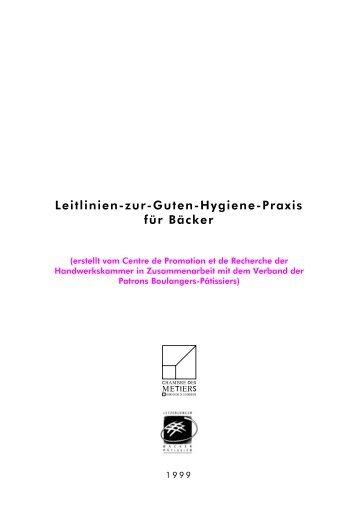 Leitlinien-zur-Guten-Hygiene-Praxis für Bäcker - Hygiene for Cleaners