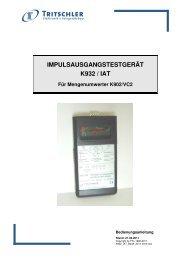 Bedienungsanleitung (100 kB) - FTL Tritschler Elektronik+ ...
