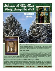 to download the weekly bulletin in - Stmb.org