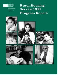 Rural Housing Service 1999 Progress Report - USDA Rural ...
