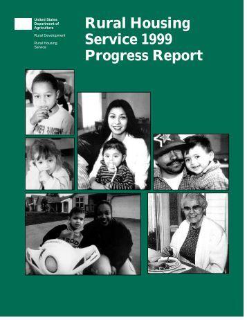 rural housing service 1999 progress report usda rural