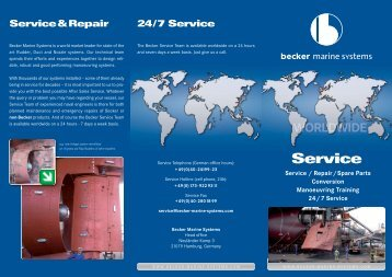 After Sales Service Brochure - Becker Marine Systems